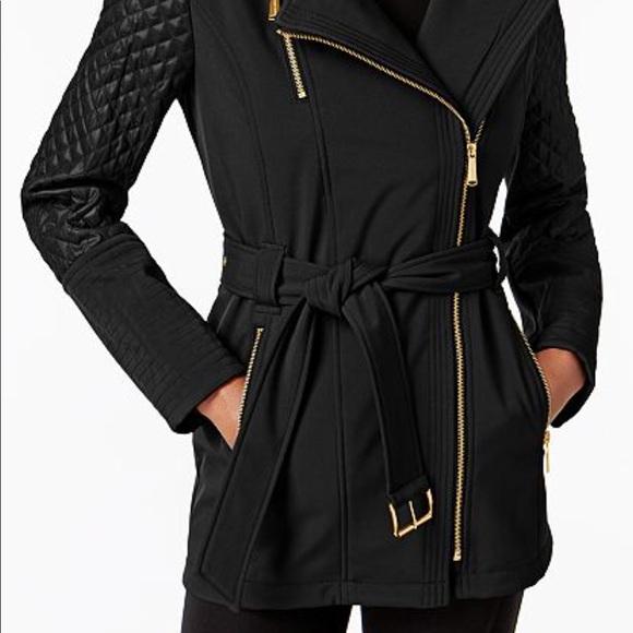 0ef44077b22 Michael kors Asymmetrical Quilted-Sleeve Coat